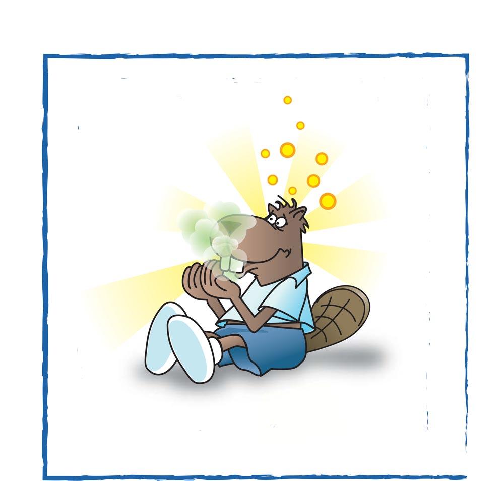 illustrazione fumetto alitosi