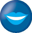icona estetica dentale bocca con denti bianchi